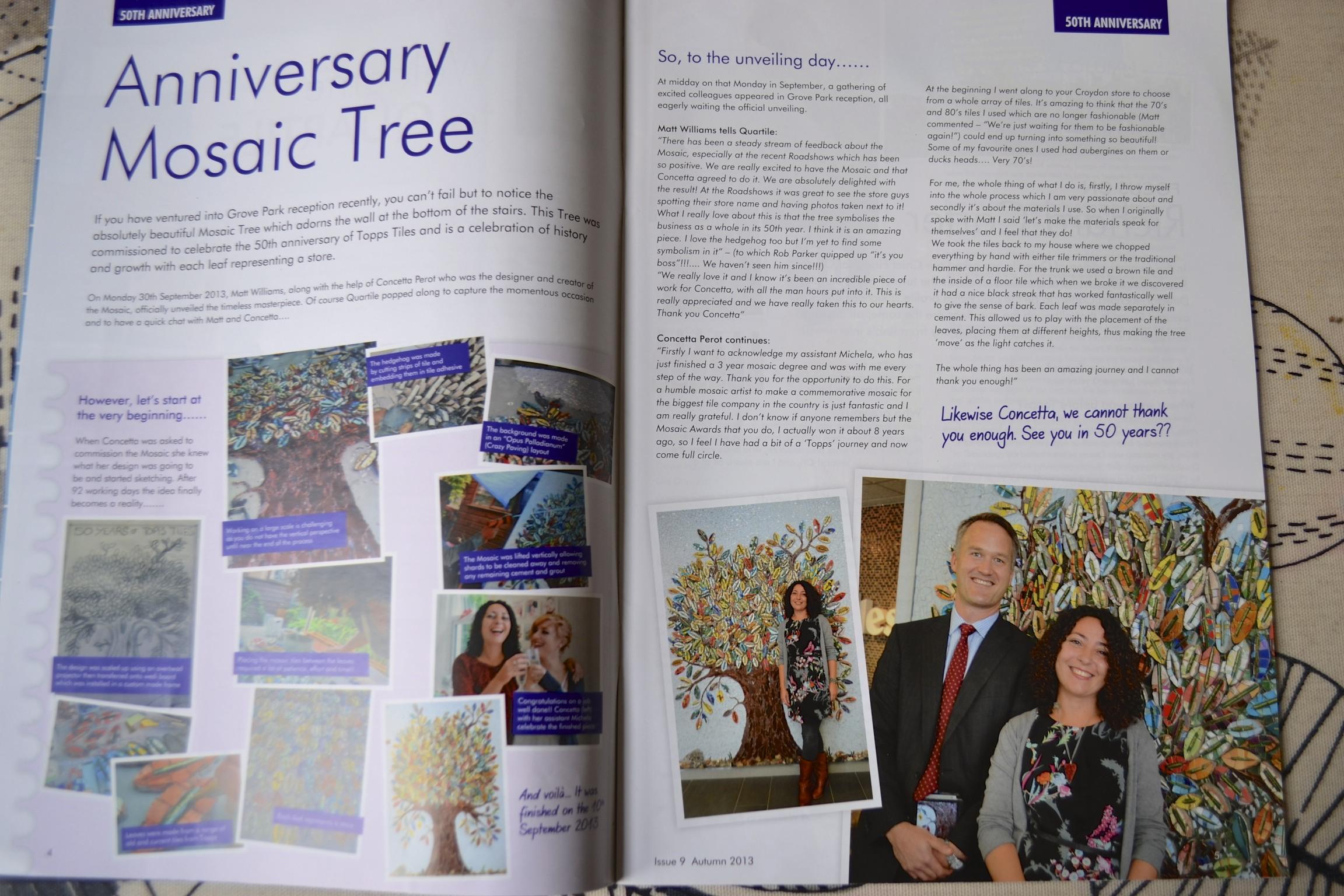 Quartile Topps Tiles  Magazine Mosaic Tree