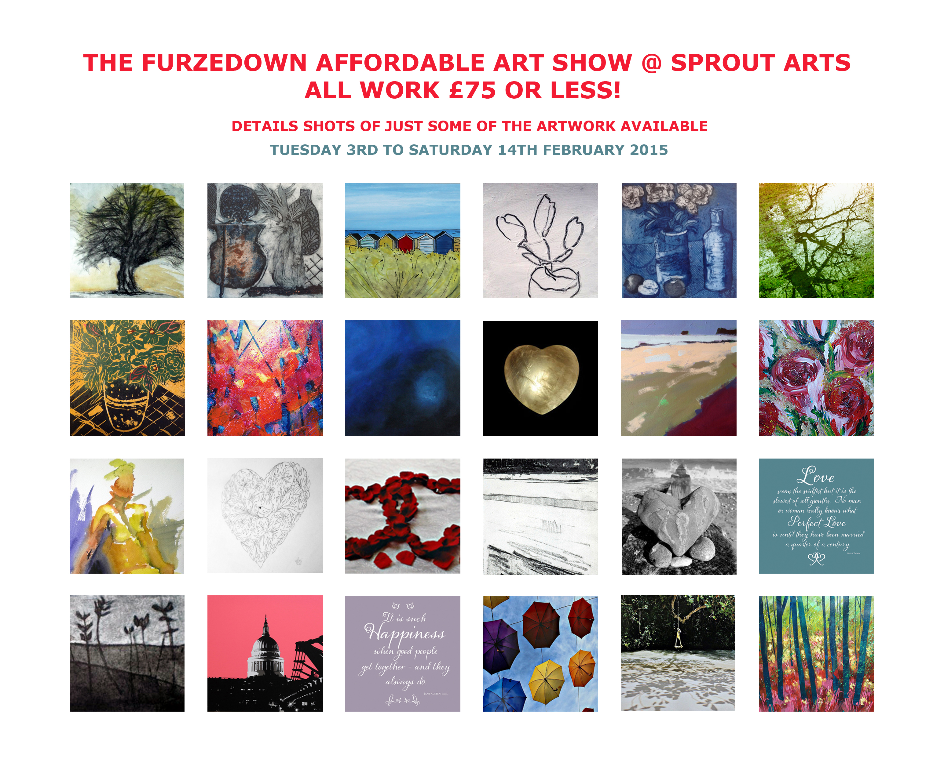 FURZEDOWN AFFORDABLE ART SHOW @ SPROUT ARTS 2