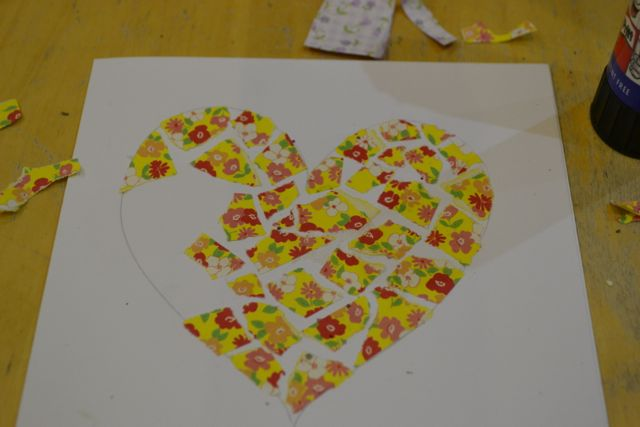 paper mosaic children tutorial