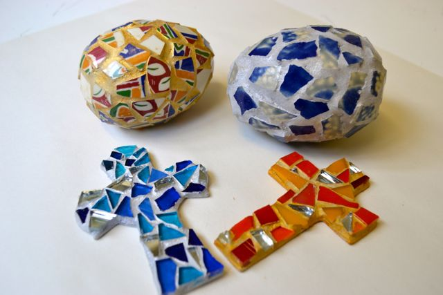 Mosaic eggs and crosses