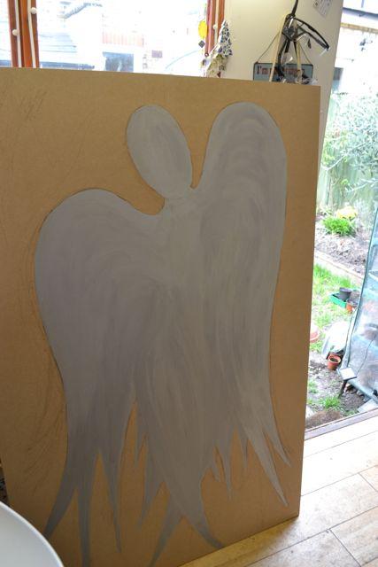 mosaic angel in progress