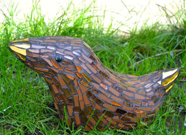 mosaic garden bird