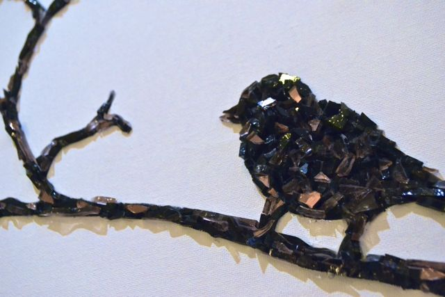 Mosaic bird by Concetta Perot