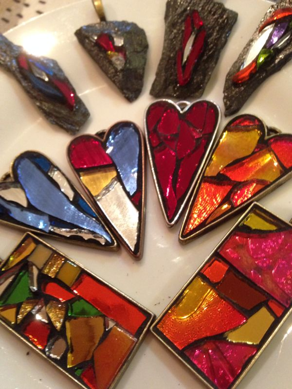 mosaic jewelry by Concetta Perot