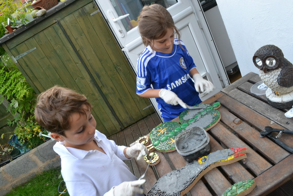 Mosaic butterfly children