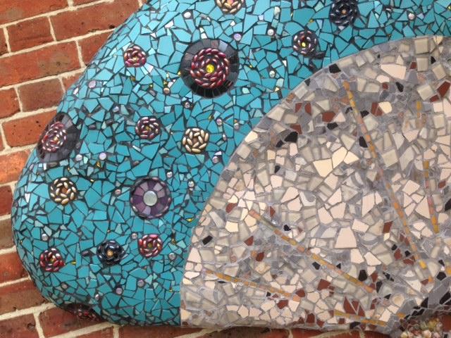 Mosaic art, garden, London art
