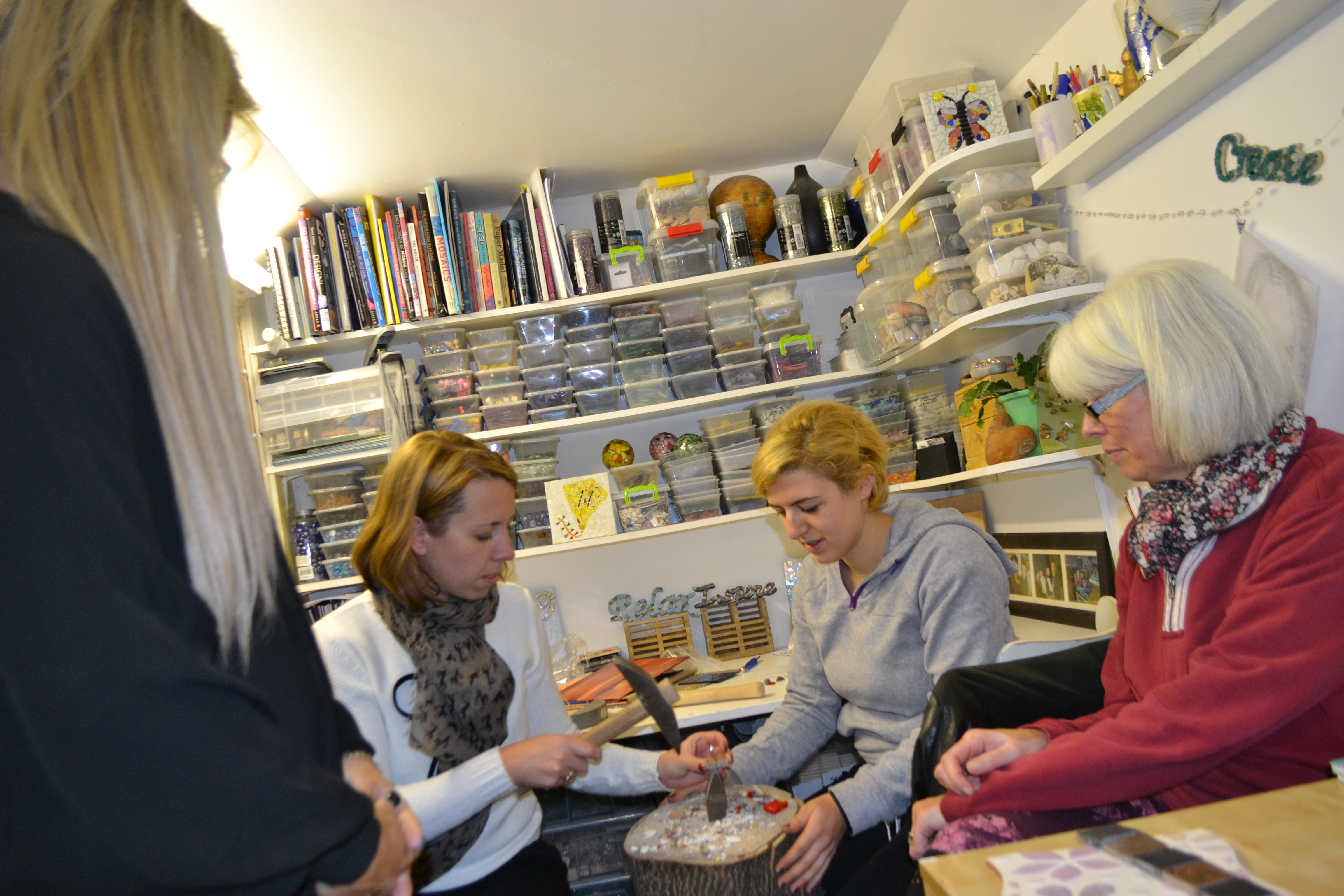 mosaic workshop London Concetta Perot