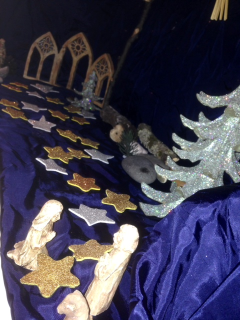 advent, nativity, children, Mary's walk